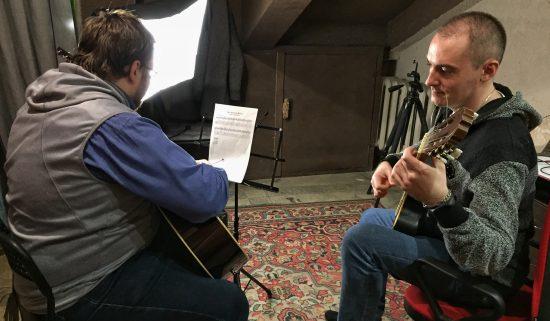 Урок гитары в музыкальной школе